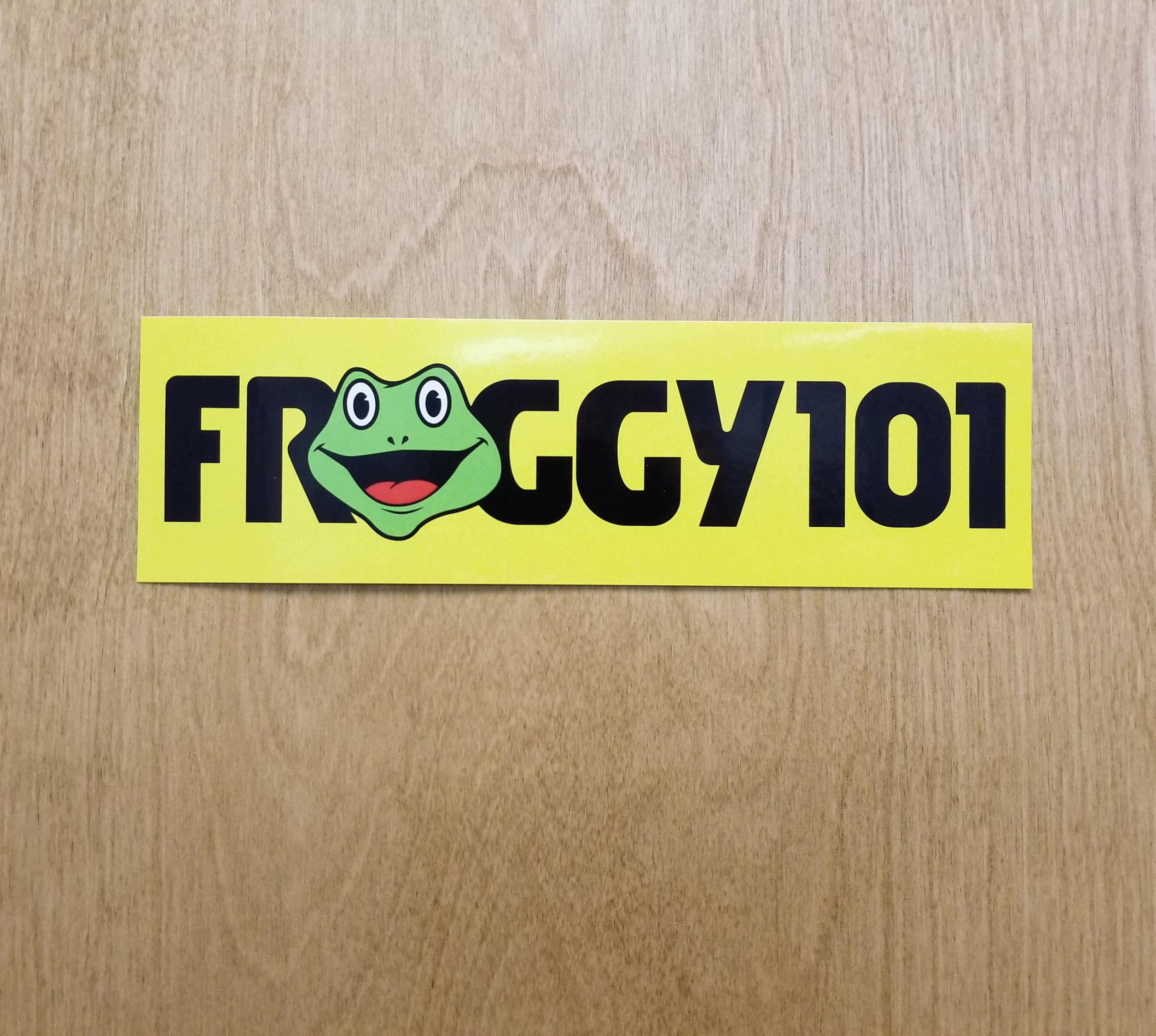 Froggy 101 bumper sticker desk sticker 🔎agrandir