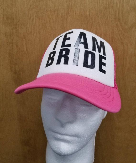 b3236b32fee Team Bride Hat Bachelorette Party Trucker Cap Bridesmaids