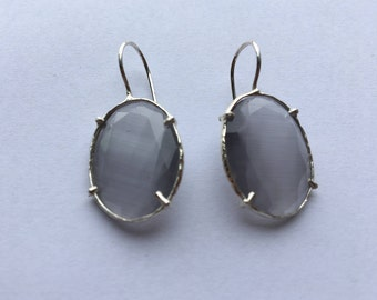 Light Grey Stone Earrings.