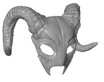 Grand homme RAM Horned Masquerade Masque Halloween Déguisements satanique Goat Horns