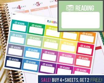 Reading Planner Stickers to be used with Erin Condren ECLP, Happy Planner, Recollections (#1017)