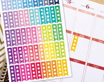 Short Scallop Watercolor Checklist Stickers \u2022 Watercolour Stickers \u2022 To do Stickers \u2022 Heart Checklist Stickers \u2022 Planner Stickers \u2022 Reminder