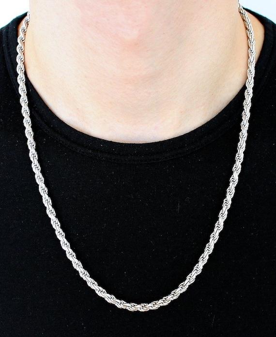 Sterling Silver Diamond Cut Corde 1.5 mm Bracelet Bracelet Collier Chaîne Italienne