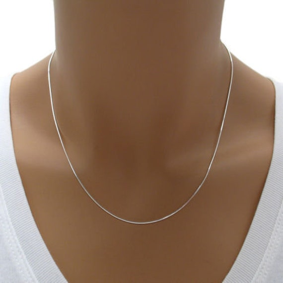 Sterling Silver 0.8mm 8 Side Diamond Cut Box Chain