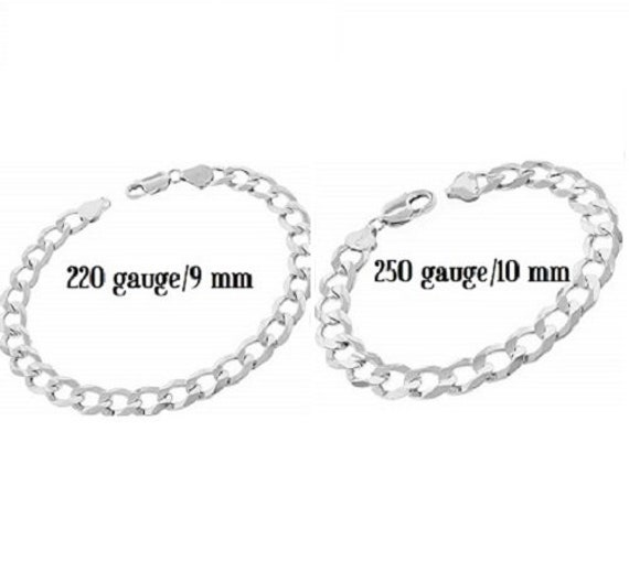 3mm Solid 925 Sterling Silver Diamond-Cut Engraveable Cuban Curb Link ID Bracelet with Secure Lobster Lock Clasp