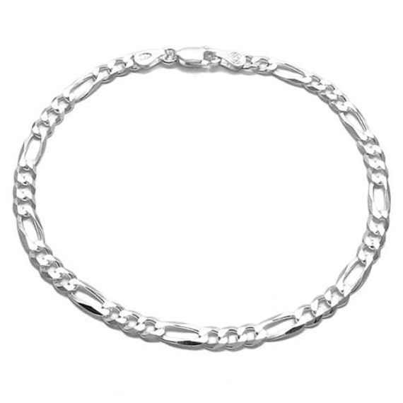 .925 Sterling Silver Childrens Curb Link Engraveable ID Bracelet 6.00 inches