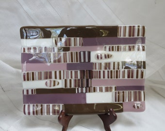 Chocolate Mauve Sushi Platter - Fused Glass