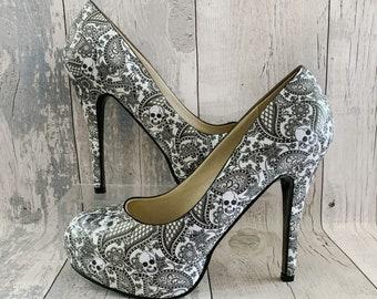 Gothic Wedding Shoes Etsy