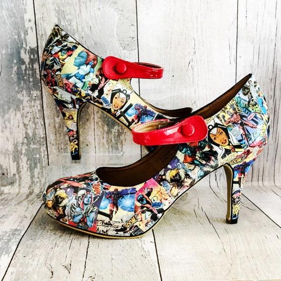 Scarpe uomo Marvel X Marvel Comics Geek scarpe X uomini scarpe su misura scarpe scarpe sposa fumetti Marvel Cosplay
