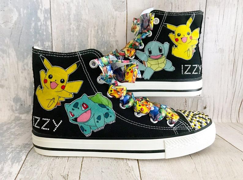 489a9912eacd Kids Pokemon Shoes Pokemon High Tops Pokemon Trainers