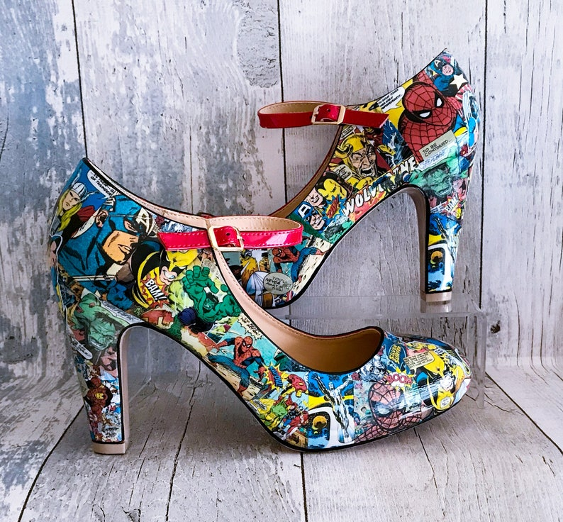 5759774e8394 Marvel Shoes Marvel Comics Geek Shoes Cosplay Shoes