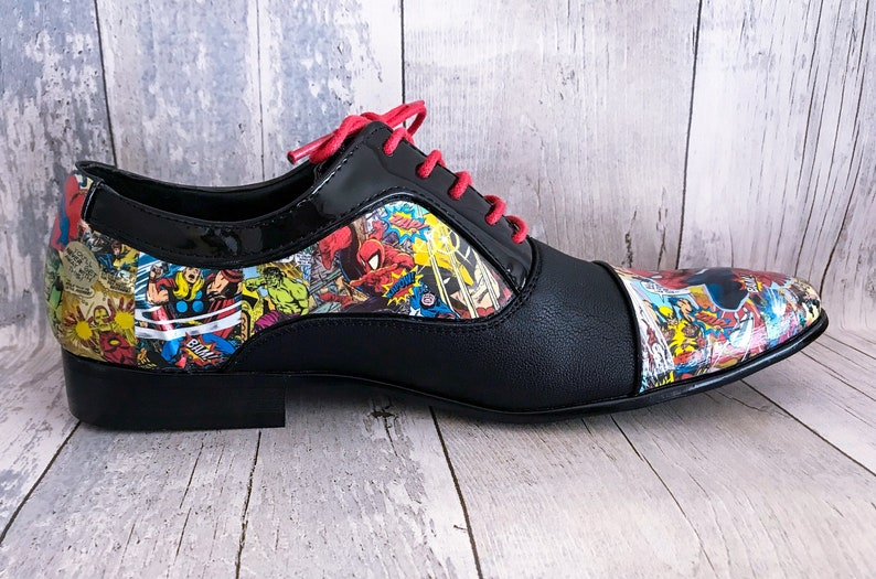 65841eeed7c Mens Marvel Shoes Groom Shoes Wedding Shoes Mens Shoes