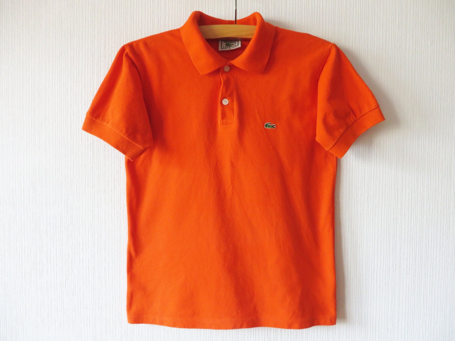 6c737c11 Orange Lacoste Polo Shirt Short Sleeve Summer Chemise Polo | Etsy