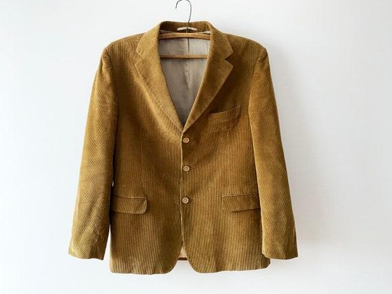 Beige Brown Corduroy Sports Coat Men's Light Brown