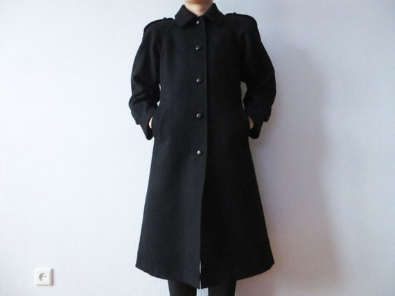 Black Vintage Winter Coat Plus Size