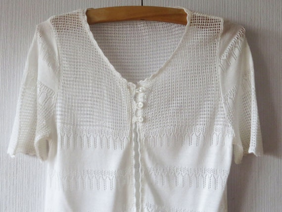 White Crocheted Cardigan Light Bohemian Jacket Romantic White Etsy