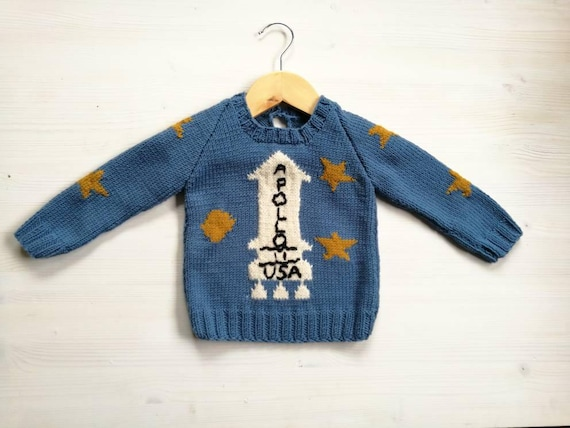 Apollo Sweater The Shining Movie Childrens Knit Wool Etsy