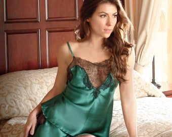 Ariana Emerald Luxury Silk and Lace Camisole 7931df04e