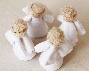 Waldorf doll angel 4 inch (11 cm) pocket doll party favours doll christmas doll