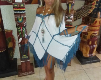 b011a4d706d37a Tunika Bluse Hippie-Boho STYLE Original Bulzeye Little Big Horn Damen Mode  Kleider - Sommer kleid Strand ONE SIZE 36 38