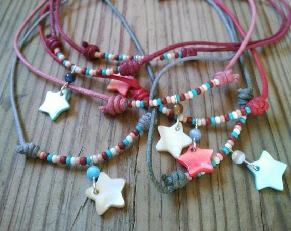 NACRE STAR CHOKER Necklace