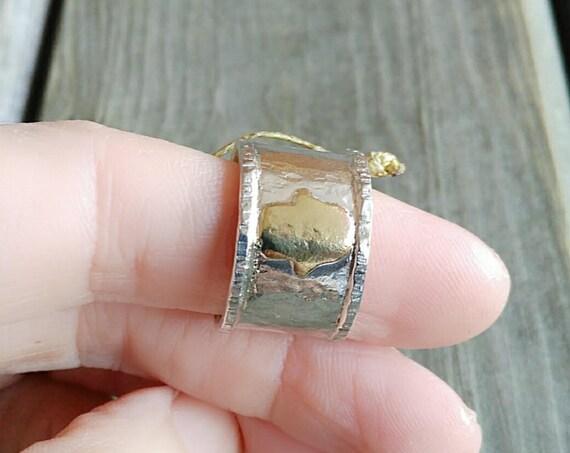 Sterling Silver Ring, Hamsa Ring, Hamsa Hand Ring