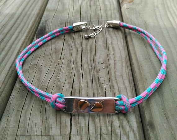 PARACORD CHOKER and connector with LEAVES