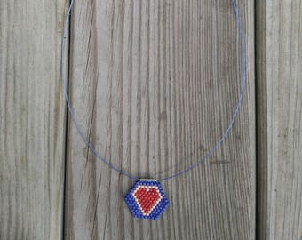 CHOKER necklace PEYOTE HEART