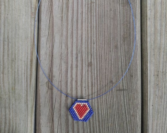CHOKER necklace PEYOTE HEART