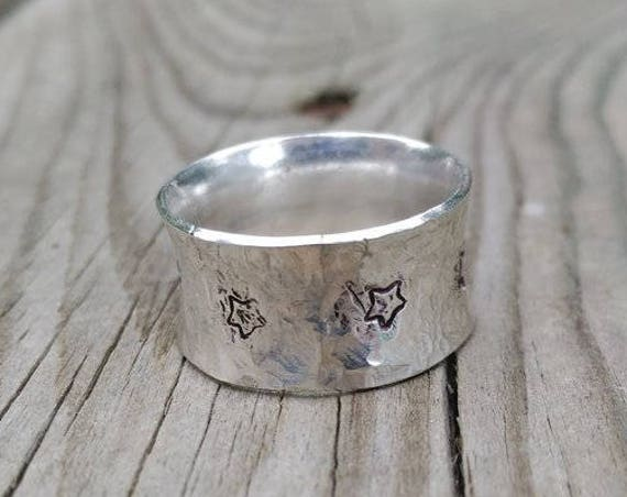 Sterling SILVER RING with brass STAR