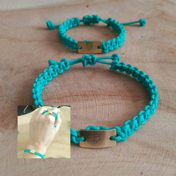 Set of two bracelets with custom Chapita