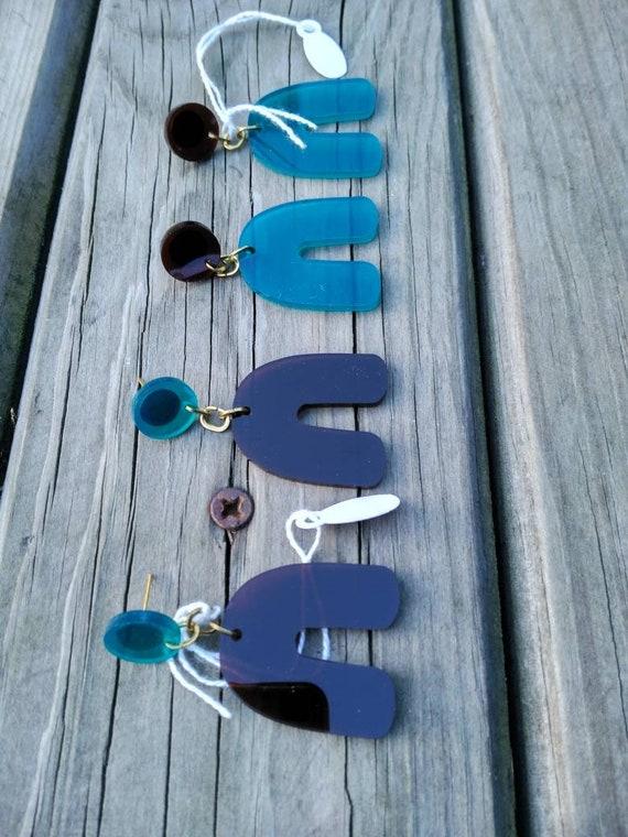 Methacrylate Earrings. Acrylic Earrings. Long Earrings. Light Earrings.