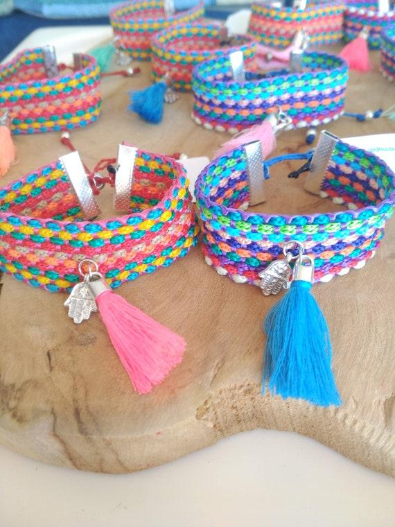 Hand of Fatima Bracelet, Boho Bracelet, Hamsa Bracelet, Bracelet with Tassel
