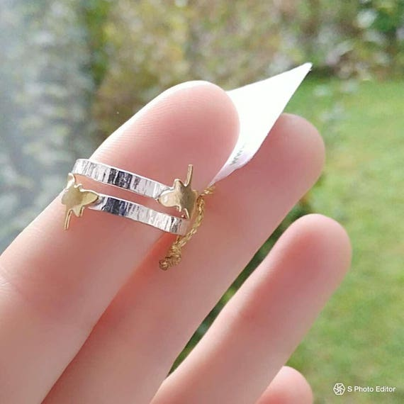 Sterling Silver Ring with butterflies