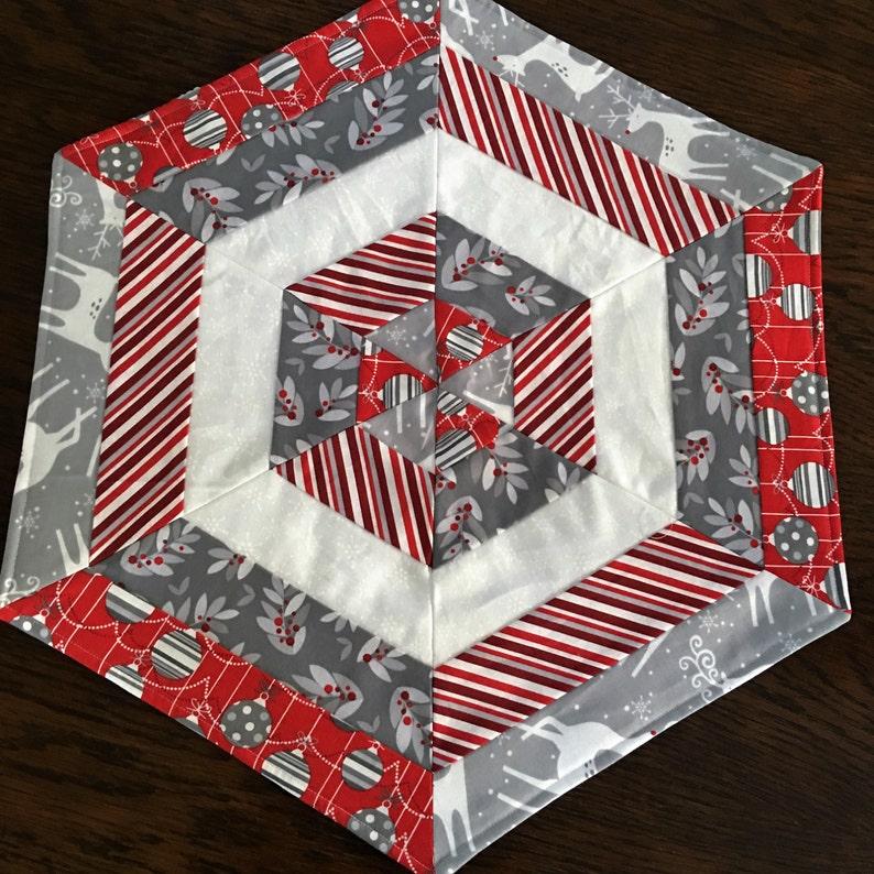 Christmas Hexagon Table Mats REDUCED