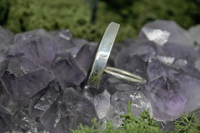 Handmade Sterling 925 Silver Teardrop Labradorite Statement Ring Hallmarked