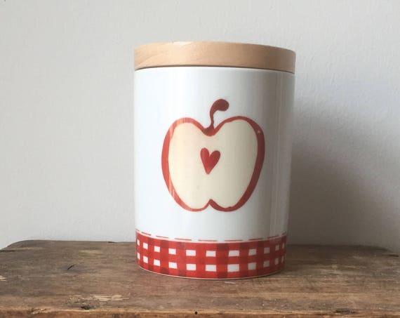 Arabia/canister/Jar/storage/Finland/apple/Minna Immonen Design