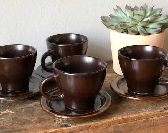 Vintage ikea Swedish small coffee cups espresso tea mulled wine cups  set of 4 vintage Scandinavian modern valuta series
