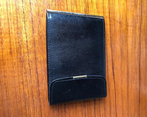 Vintage Swedish calfskin leather billfold wallet black leather like new