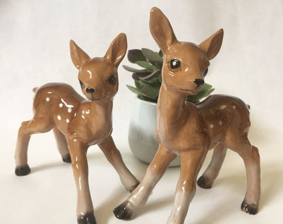 Large deer /figurines/1950s/perfect condition/pair/Germany/midcentury /kitch