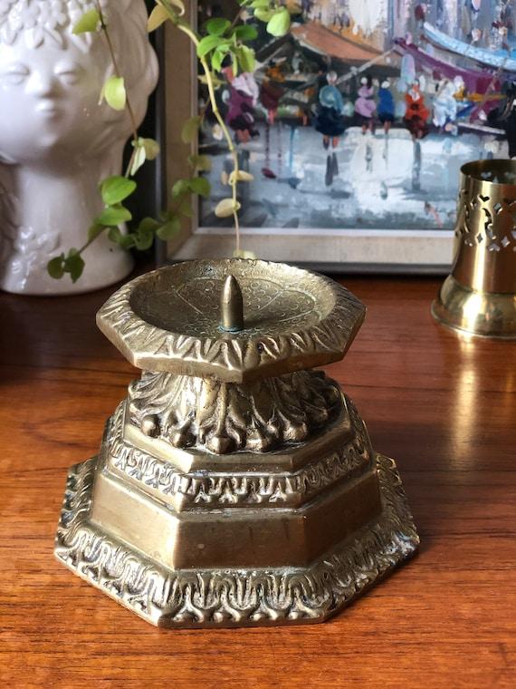XL bronze candle holder traditional menorah base beautiful pedestal candlestick