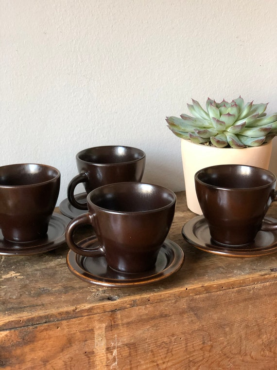 Vintage Swedish small coffee cups espresso tea mulled wine cups  set of 4 vintage Scandinavian modern