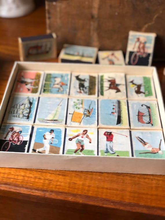 Swedish collection of sport illustrated matches by Svenska Tändsticks Aktiebolaget/ Snap Quick Åkerlund Crausing / Paradtändstickor