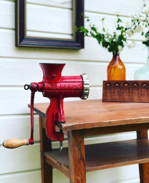 Vintage Swedish 1940s Reliance kitchen tool meat Grinder