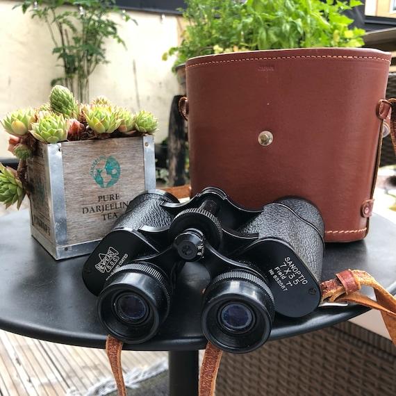 Newpearl binoculars japanese / japan midcentury/ vintage leather case