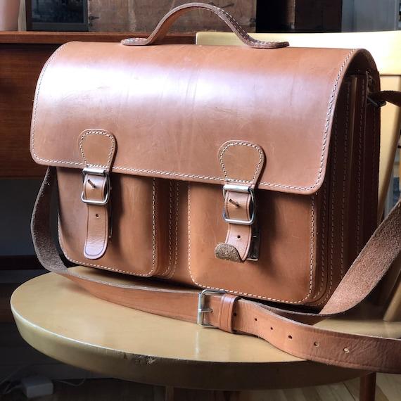 Vintage Dutch leather satchel bag from Original Ruitertassen portfolio computer bag camera case computer case briefcase school bag