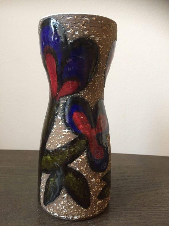 Upsala Ekeby ceramic vase designed by Mari Simmulson 1967-69 cardus series /cactus flowers series