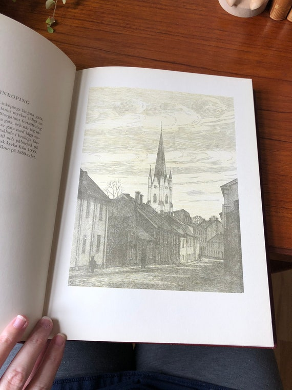 Waldemar Bernhard leather bound book collection of 50 prints hardcover Stockholm Sweden