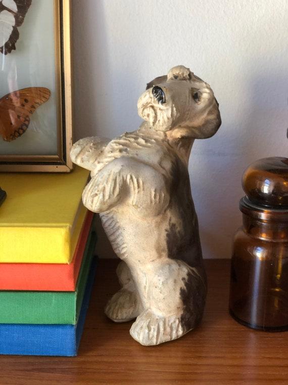 Scandinavian Dog figurine by JIE ceramic company / midcentury modern scandinavian terrier Swedish studio pottery hygge wabisabi