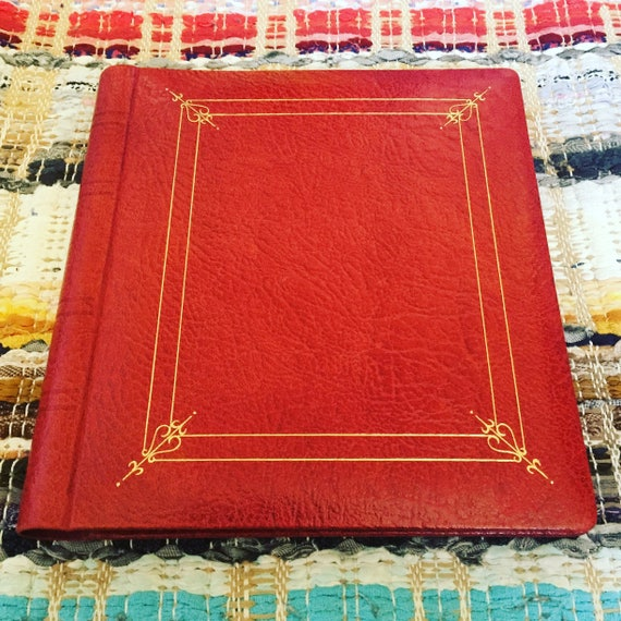 photo/album/red/leather/gold embossing/never used